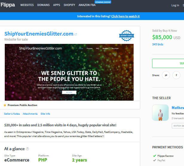 selling website